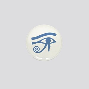 Blue Eye of Horus Hieroglyphic Mini Button