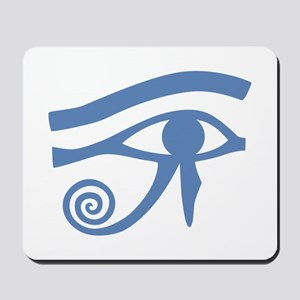 Blue Eye of Horus Hieroglyphic Mousepad