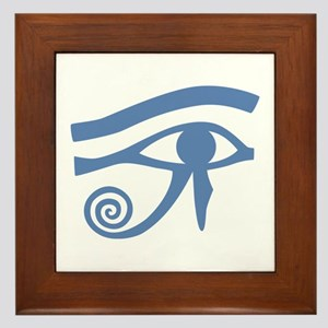 Blue Eye of Horus Hieroglyphic Framed Tile