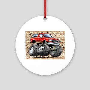 95_Red_EB_Bronco Ornament (Round)