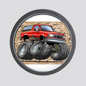95_Red_EB_Bronco Wall Clock