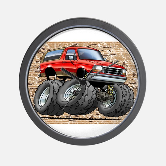 95_Red_EB_Bronco.png Wall Clock