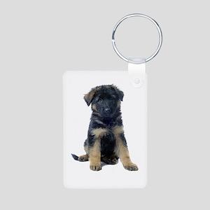 German Shepherd Aluminum Photo Keychain