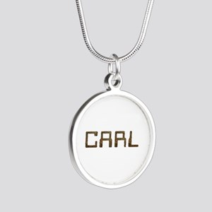 Carl Circuit Silver Round Necklace