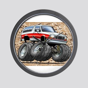 95_White_R_Bronco Wall Clock