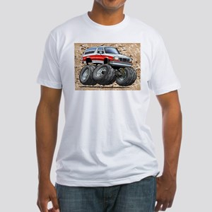 95_White_R_Bronco Fitted T-Shirt