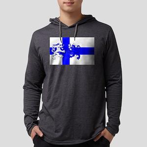 Finnish Lion Flag Mens Hooded Shirt