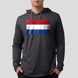 Netherlands Flag Mens Hooded Shirt