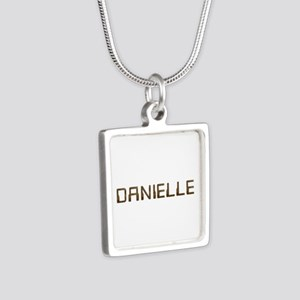 Danielle Circuit Silver Square Necklace