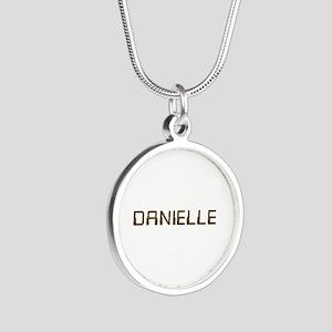 Danielle Circuit Silver Round Necklace