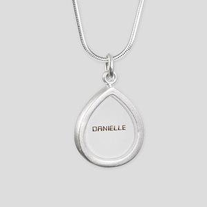 Danielle Circuit Silver Teardrop Necklace