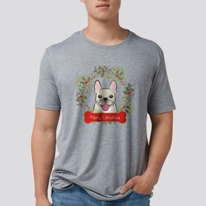 French Bulldog Christmas Wr Mens Tri-blend T-Shirt