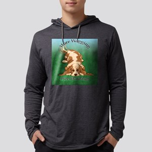 More Wagging Mens Hooded Shirt