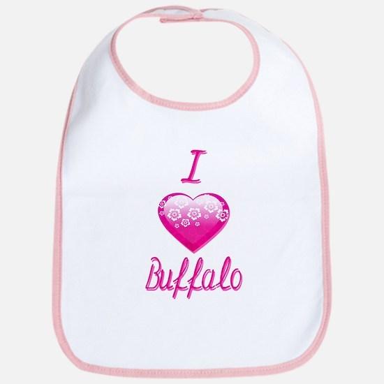 I Love/Heart Buffalo Bib