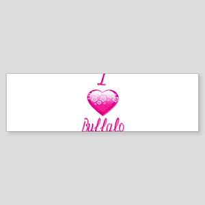 I Love/Heart Buffalo Sticker (Bumper)