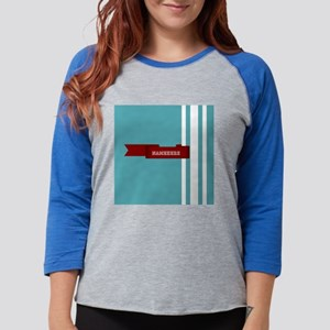 Customized Stripe with Ribbon Womens Baseball Tee