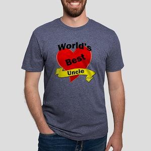Worlds Best Uncle Mens Tri-blend T-Shirt