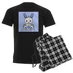 Kawaii Blue Bunny Men's Dark Pajamas