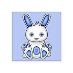 Kawaii Blue Bunny Square Sticker 3