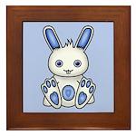 Kawaii Blue Bunny Framed Tile