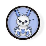 Kawaii Blue Bunny Wall Clock