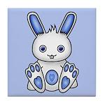 Kawaii Blue Bunny Tile Coaster