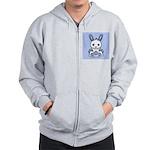 Kawaii Blue Bunny Zip Hoodie