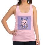 Kawaii Blue Bunny Racerback Tank Top