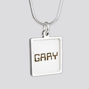 Gary Circuit Silver Square Necklace
