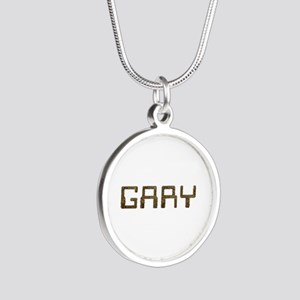 Gary Circuit Silver Round Necklace