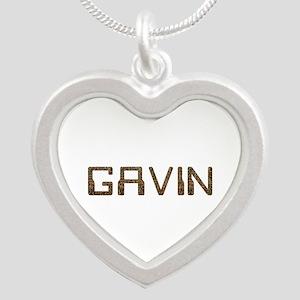 Gavin Circuit Silver Heart Necklace