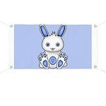 Kawaii Blue Bunny Banner