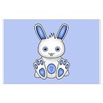 Kawaii Blue Bunny Large Poster