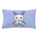 Kawaii Blue Bunny Pillow Case