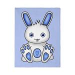 Kawaii Blue Bunny Twin Duvet