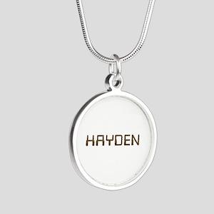 Hayden Circuit Silver Round Necklace