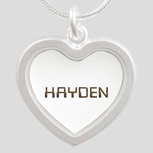 Hayden Circuit Silver Heart Necklace