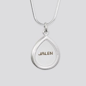 Jalen Circuit Silver Teardrop Necklace