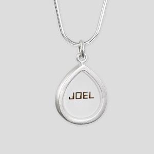 Joel Circuit Silver Teardrop Necklace