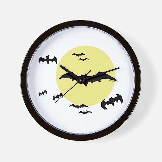 Bats with moon Wall Clock