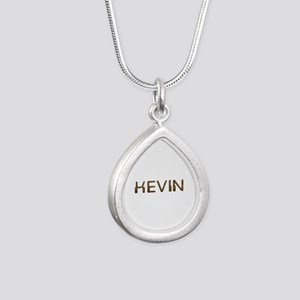 Kevin Circuit Silver Teardrop Necklace