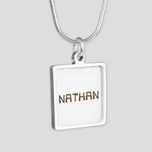 Nathan Circuit Silver Square Necklace