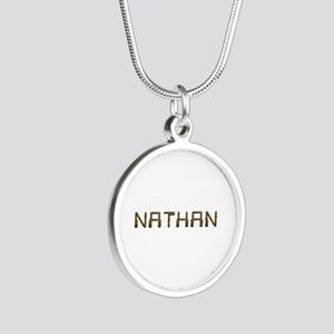 Nathan Circuit Silver Round Necklace
