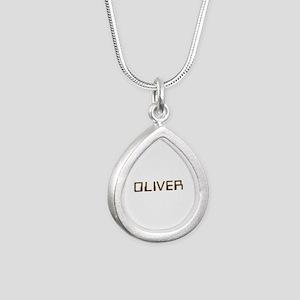 Oliver Circuit Silver Teardrop Necklace