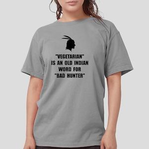 Vegetarian Bad Hunter Womens Comfort Colors Shirt
