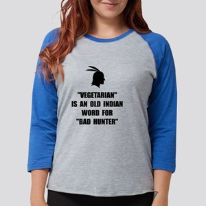 Vegetarian Bad Hunter Womens Baseball Tee