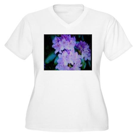 Fresh Flowers Women's Plus Size V-Neck T-Shirt