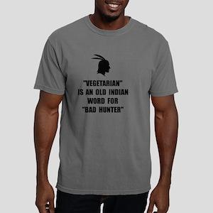 Vegetarian Bad Hunter Mens Comfort Colors Shirt