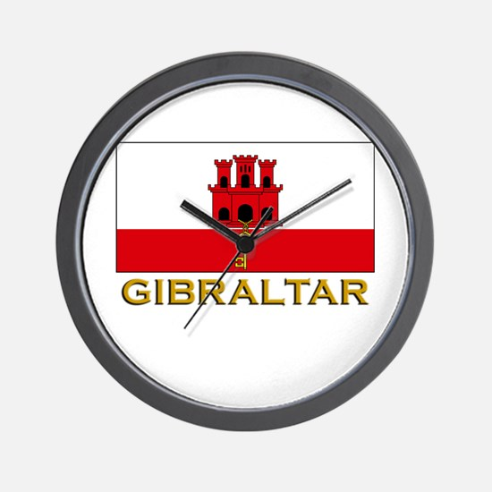 Gibraltar Flag Stuff Wall Clock