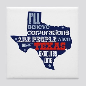 Corporations Are People Tile Coaster